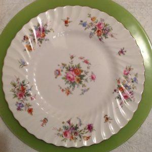 dinner-plate-floral & Vintage China Dinner Plates - Vintage English Teacup