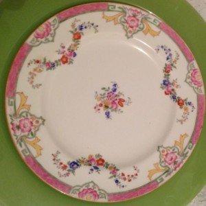 Vinatge fine china plate 8 inch pink