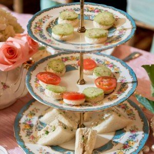 vintage fine china cake stands