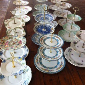 vintage fine china cake stands