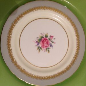 dinner-plate-gray-pink & Vintage China Dinner Plates - Vintage English Teacup