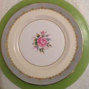 Vintage fine china pink 8 inch plate