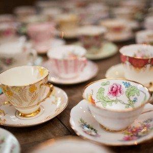 vintage fine china tea cups