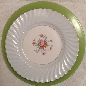 Pale Blue Vintage fine china Plate