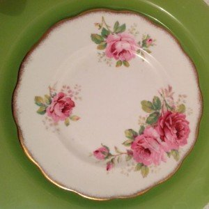 Vintage fine china plate 8 inch