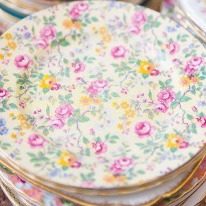 vintage fine china cake plates