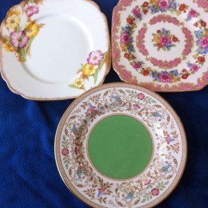 vintage fine china 6 inch plates