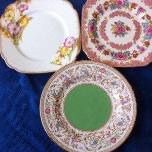 vintage fine china 6 inch plates