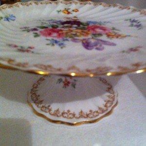 vintage fine china pedestal
