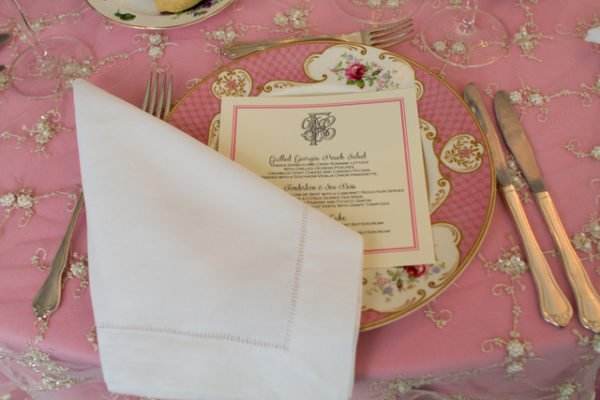 dream wedding Inspiration pink place settings