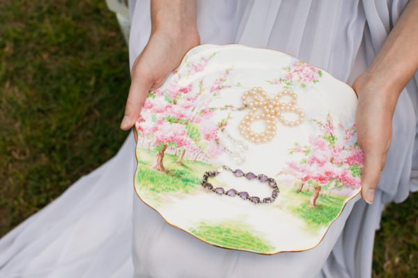Square fine china plate