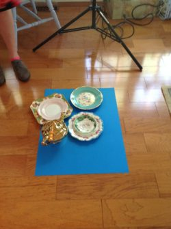 Modern styling for vintage china