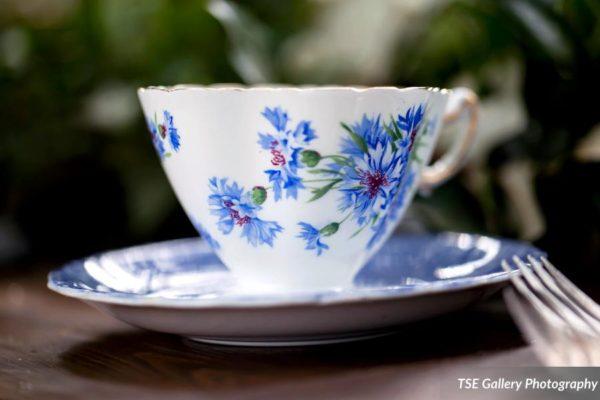 TeaCup Blue White Wedding Georgia Serenbe