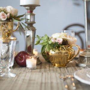luxury gold teapot wedding Flourish Georgia