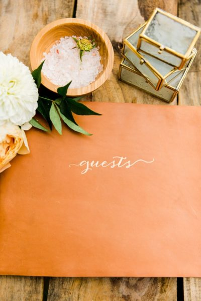 Handmade Guest book from Claire Magnolia