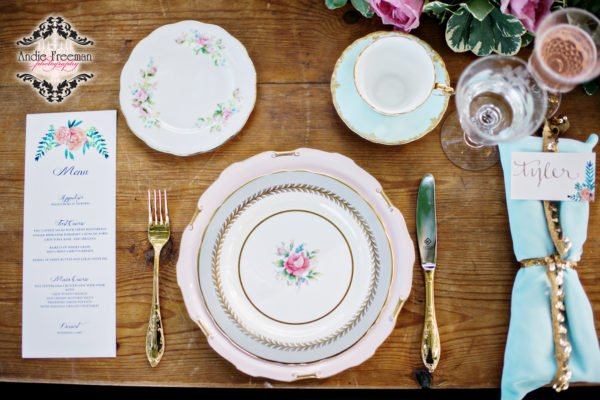 Rustic Georgia Wedding Fine China
