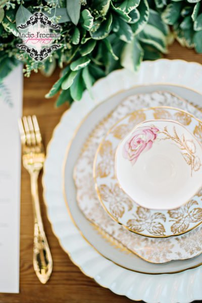 Luxury Georgia Wedding Fine China Rental