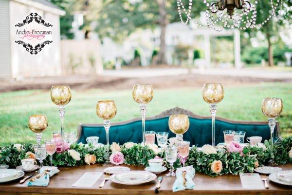 Luxury Wedding table Pink Blue