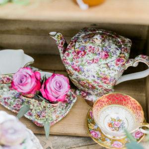 luxury teapot chintz wedding ideas