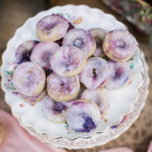 Lavender glazed donuts