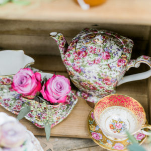 luxury teapot chintz wedding ideas
