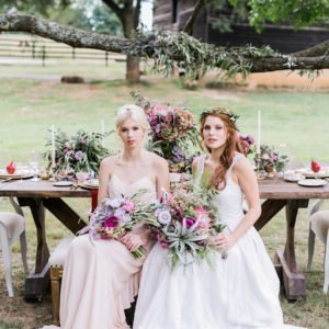 brides rustic table fall