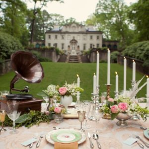 Swan House Gatsby Styled Editorial Shoot