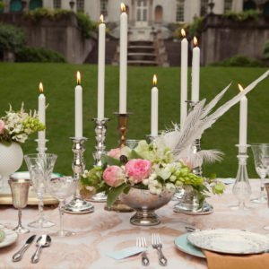 Tall Tapers add glamor and style to your wedding table