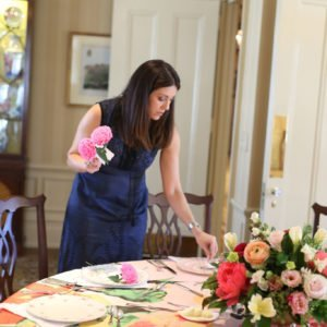 Prepping-table-bridal-shower