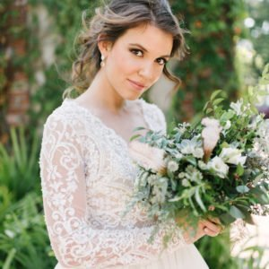 Bride-flowers-greens