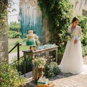 Turquoise-wedding-cake