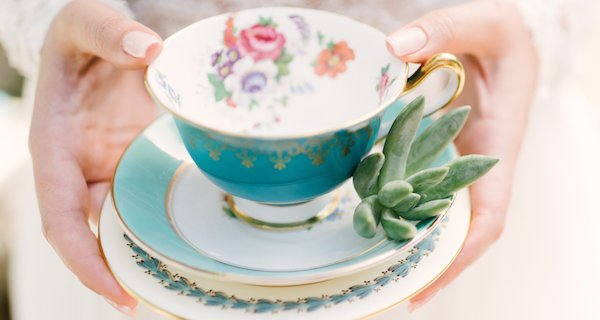 Turquoise-Teacup-Gold