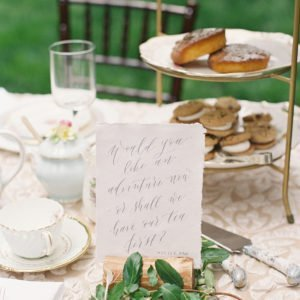 Tea-table-setting