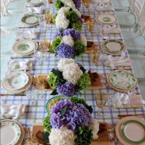 Bridal Luncheon in Blues and Greens