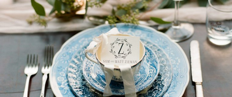 Blue and White featured on Southeastern Bride