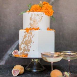 cake-orange-gold