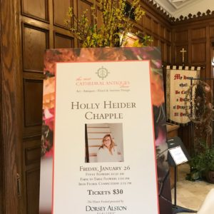 Holly Chapple Designs at Cathedral Antiques Show 2018