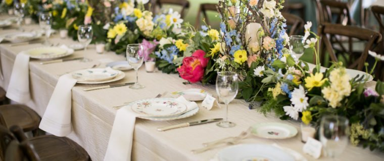 fine china head table