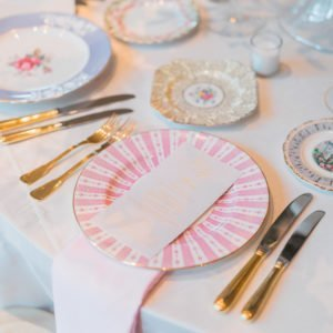 English-plates-wedding-reception