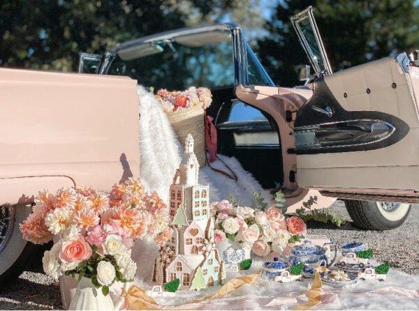 Pink-vintage-car