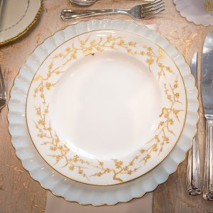 Blue- white- place setting