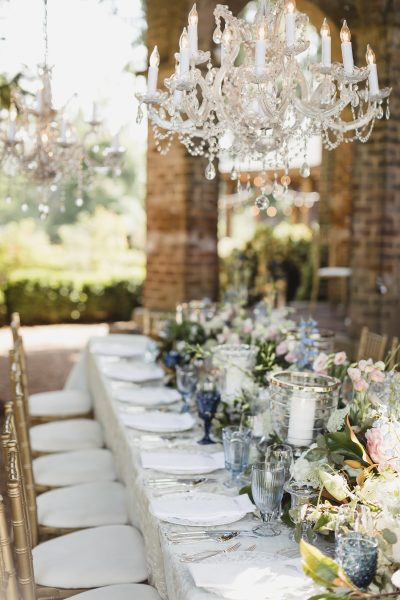 Long Table with Chandaliers