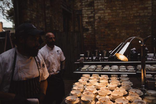 Chefs prepare soup